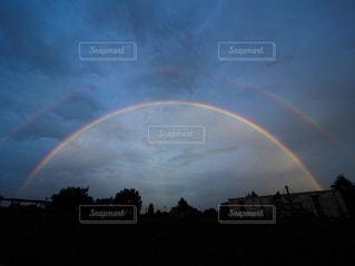 2重の虹の写真・画像素材[2523983]