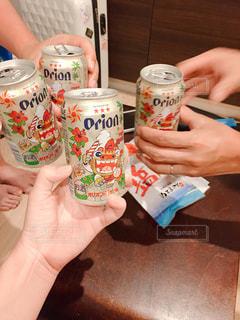 お酒,沖縄,グラス,ビール,乾杯,ドリンク,オリオンビール,缶ビール
