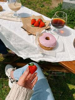 晴れの日ピクニックの写真・画像素材[4403205]
