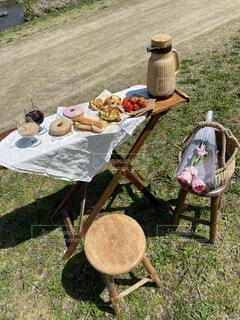 晴れの日ピクニックの写真・画像素材[4403203]