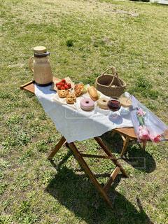 晴れの日ピクニックの写真・画像素材[4403206]