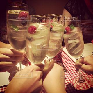 グラス,ハワイ,乾杯,ドリンク,女子会,シャンパン,アルコール