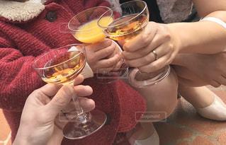 親子,結婚式,グラス,乾杯,ドリンク