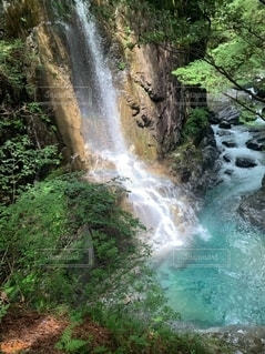 自然の中の滝の写真・画像素材[2540260]