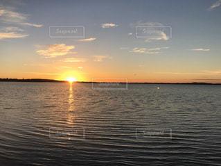 自然,風景,空,屋外,湖,太陽,夕暮れ,水面,光,オーストラリア,夕陽