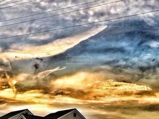 空の雲の群の写真・画像素材[3363810]