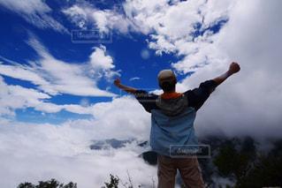 雲の上の絶景の写真・画像素材[2537995]