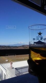 富士山,グラス,ビール,乾杯,ドリンク,一人飲み,静岡麦酒