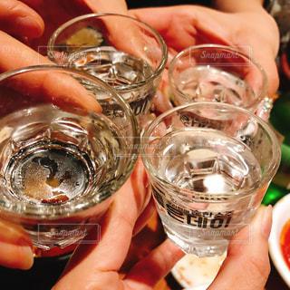 楽しい,グラス,乾杯,ドリンク,女子会,チャミスル