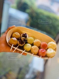食べ物,スイーツ,カラフル,和菓子,デザート,おやつ,お菓子,団子,和,手作り,和スイーツ,白玉団子