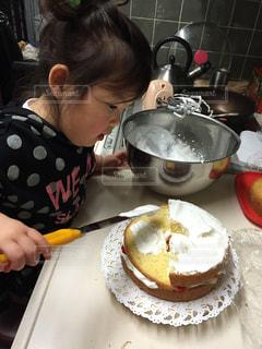 ケーキ作りの写真・画像素材[2681137]