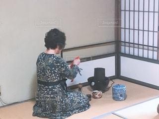 おばあちゃんのお抹茶の写真・画像素材[2584925]