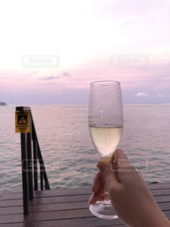 海,空,屋外,海外,景色,グラス,乾杯,ドリンク,眺め