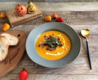 かぼちゃスープの写真・画像素材[3833307]