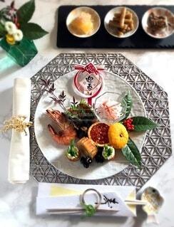 おせち料理のワンプレートの写真・画像素材[4037272]
