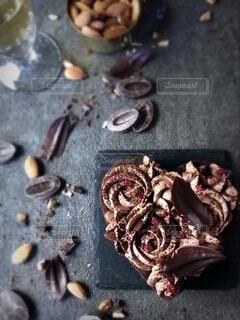 ハートのガトーショコラの写真・画像素材[4155501]