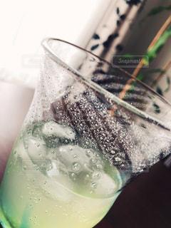 飲み物のクローズアップの写真・画像素材[3532203]