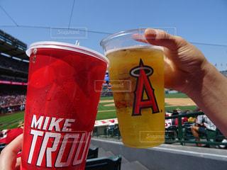 アメリカ,グラス,ビール,野球,乾杯,ドリンク,観戦,アナハイム,内野,大谷翔平,追っかけ,ホームラン期待