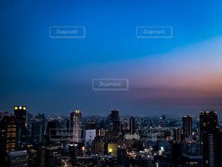 空中庭園から見た大阪の夜景の写真・画像素材[2718833]