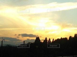 自然,風景,空,屋外,太陽,朝日,雲,山,光,樹木,日の出