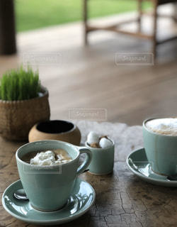 コーヒー,シェムリアップ,コーヒー カップ,素敵なテラス