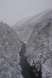 雪に覆われた山の写真・画像素材[1740113]