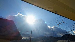 空,太陽,雲,青空,光,明るい