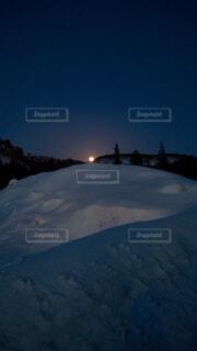 自然,風景,空,冬,夜,雪,屋外,山,月