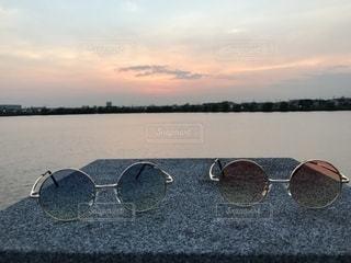 ファッション,風景,公園,アクセサリー,サングラス,カラフル,夕焼け,眼鏡,色,メガネ