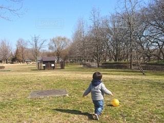 公園でボール遊びの写真・画像素材[2582971]