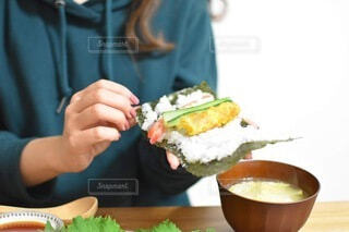 手巻き寿司の写真・画像素材[3912507]
