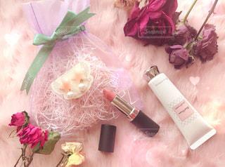 花,ピンク,かわいい,バラ,口紅,薔薇,可愛い,メイク,美容,お洒落,リップ,コスメ,化粧品