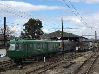 電車の車庫in熊本の写真・画像素材[2834900]