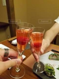 恋人,グラス,お祝い,乾杯,ドリンク,お洒落,birthday,サプライズ,梅酒,ノンアルコール,食前酒