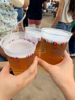 夏,屋外,沖縄,グラス,ビール,祭り,乾杯,ドリンク,オリオンビール,夏祭り