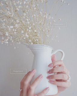 花瓶を持つ手の写真・画像素材[3063855]