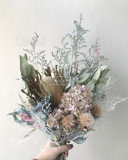 ドライフラワーの花束の写真・画像素材[3093560]