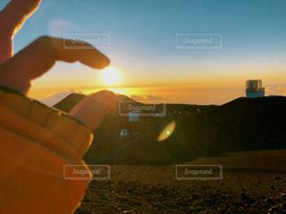 ハワイ島の夕日の写真・画像素材[2624042]