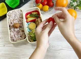 食品のプラスチック容器の写真・画像素材[3648508]