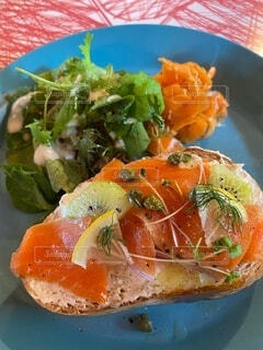 食べ物の皿の写真・画像素材[3895125]
