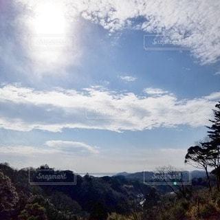 自然,風景,海,空,太陽,雲,きれい,山,景色,光,樹木,くもり,眺め,日中