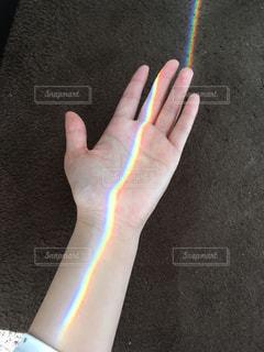 初めて掴んだ虹🌈の写真・画像素材[2611467]