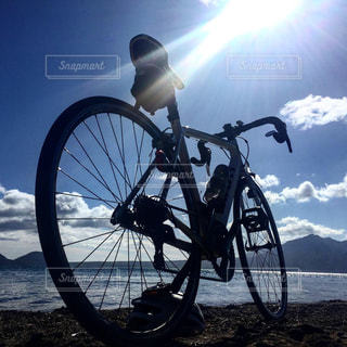 支笏湖 サイクリングの写真・画像素材[2624485]