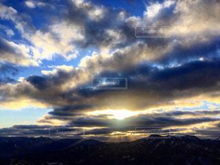 藻岩山 天使の梯子の写真・画像素材[2890835]