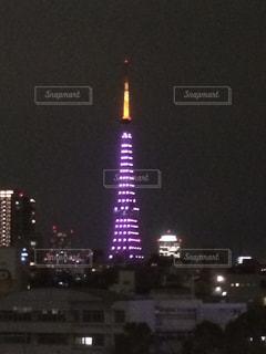 東京タワー イルミネーション ピンクの写真・画像素材[2624697]