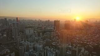 東京タワーからの夕日です!の写真・画像素材[2866089]