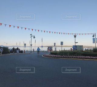 海沿いのフェスの写真・画像素材[3021024]