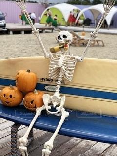 ビーチでハロウィンの写真・画像素材[2632250]