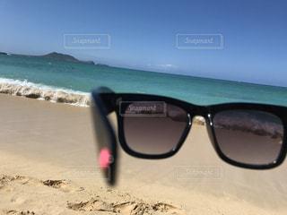 海,空,アクセサリー,屋外,砂,サングラス,ビーチ,水面,海岸,眼鏡,ハート,ハワイ,メガネ