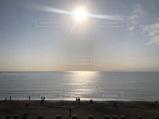 自然,風景,海,空,夕日,屋外,太陽,ビーチ,夕暮れ,海岸,景色,光,日中,日